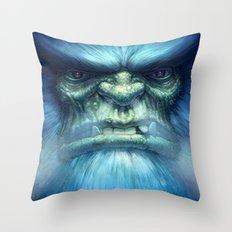 Abominable Snowman Throw Pillow