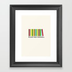 Reading is good Framed Art Print