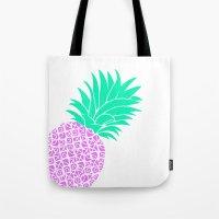 Bright Pineapple Tote Bag