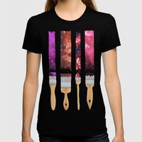 Color Your Life - Stargazer Womens Fitted Tee Black SMALL