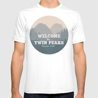 Welcome to Twin Peaks v2 Mens Fitted Tee White SMALL