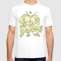 Space Fuckin' SMALL White Mens Fitted Tee