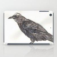 Watercolor Crow iPad Case