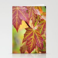 Maple Leaves Stationery Cards