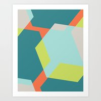 Hex - Teal Art Print