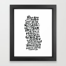 One Ring  Framed Art Print