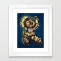 Tubby Zombie Framed Art Print