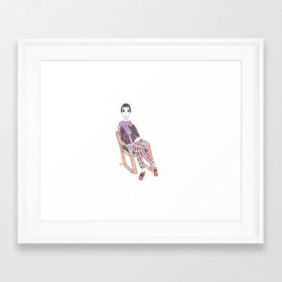 girl in a chair Framed Art Print