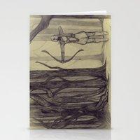Legolas LOTR - the noisy silence of woods Stationery Cards