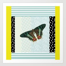 Mint butterfly Art Print