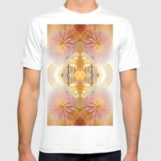 Dahlias and Orchids flowers in reflect SMALL Mens Fitted Tee White