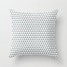 triangles - gray and white Throw Pillow