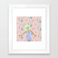Design Based in Reality Pink Framed Art Print