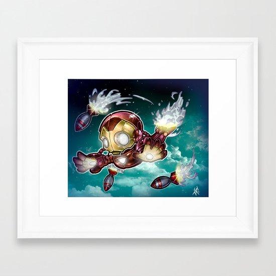 lil' Iron Dude Framed Art Print