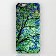 Green Leaves Night Sky iPhone & iPod Skin