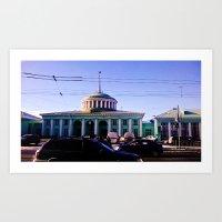 The Train Station. Art Print