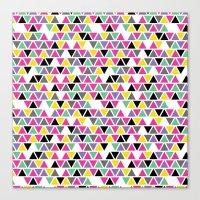 Pop Triangles Canvas Print