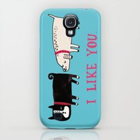 Galaxy S4 Cases featuring I Like You. by gemma correll