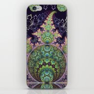 iPhone & iPod Skin featuring Playful Circles, Spirals… by Thea Walstra