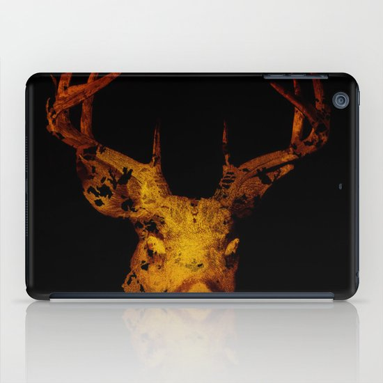 Cervus (Gold Negative Version) iPad Case