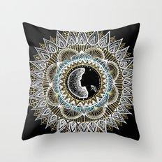 Woman Mandala Throw Pillow