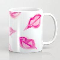 Lips Watercolor Pattern Mug