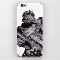 Master Chief Pen Drawing iPhone & iPod Skin