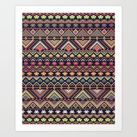 indians versus aliens (variant 2) Art Print