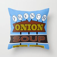 French Onion Soup  Throw Pillow
