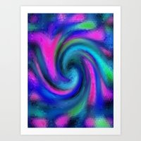 Triangle Spiral Art Print