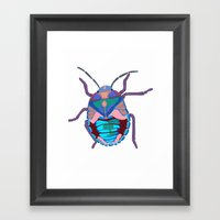 A Beautiful Beetle Framed Art Print