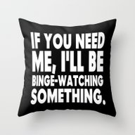 Binge Watching Throw Pillow