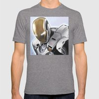 MARK 39 Mens Fitted Tee Tri-Grey SMALL