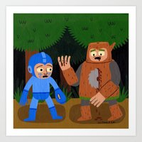The Death Of Woodman Art Print