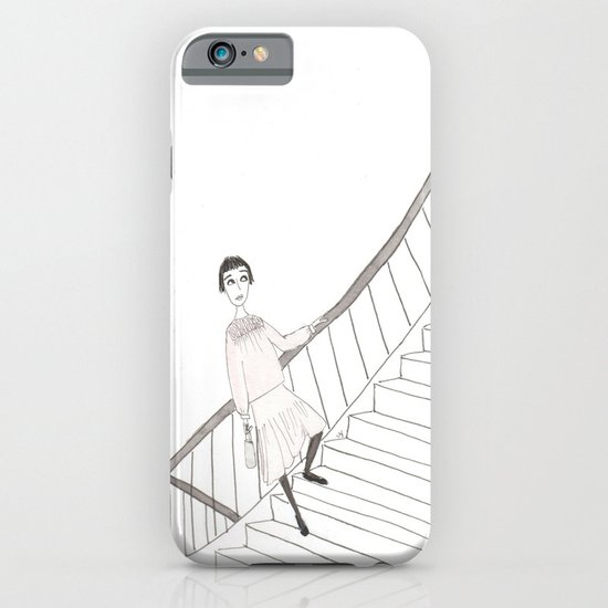 girl on a stair iPhone & iPod Case