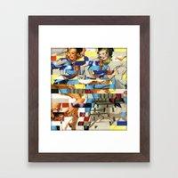 Glitch Pin-Up Redux: Yas… Framed Art Print