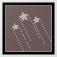 Shooting Stars 4 Art Print