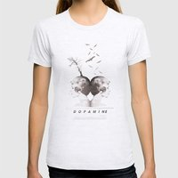 Dopamine | Collage Womens Fitted Tee Ash Grey SMALL