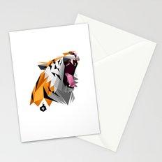 TML polygon tiger ROAR!!! Stationery Cards