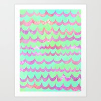 WAVES - Pastel Art Print