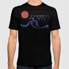 Ocean Mens Fitted Tee Black SMALL