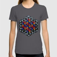 Flower Of Life Womens Fitted Tee Asphalt SMALL