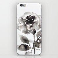Black Peony iPhone & iPod Skin