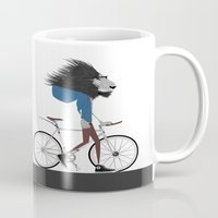 Hipster Lion and his Bicycle Mug