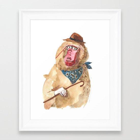 Suave Baboon Framed Art Print