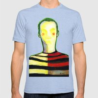 HIDDEN FACE Mens Fitted Tee Tri-Blue SMALL