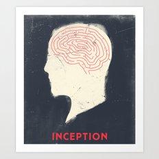 Inception - Movie Poster Art Print