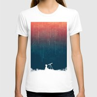 rain T-shirts featuring Meteor rain by Picomodi