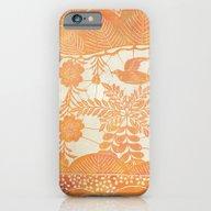 Flying Bird In Orange iPhone 6 Slim Case