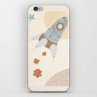 Spaceship Collage iPhone & iPod Skin